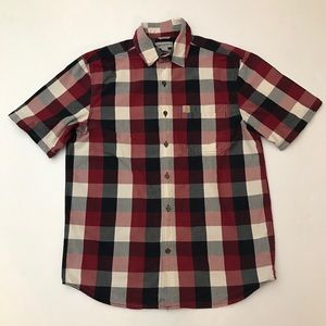 Carhartt Men's Essential Plaid Open Collar shirt